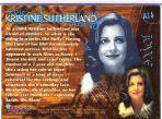 Kristine Sutherland Autogramm-Karte (Buffy)