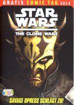 2012 Gratis Comic Tag - Star Wars the Clone Wars