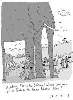 Beck: Wenigstens braucht man mit dir keinen Sonnenschirm! (Cartoon)