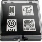 K*bang GOLD # 07 mit K-Pop B4DGES Logo Pins Set 2